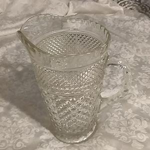 Vintage Wexford cut glass pitcher